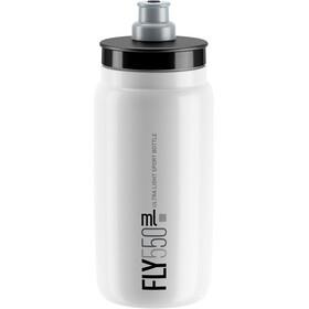 Elite Fly Trinkflasche 550ml weiß/graues logo